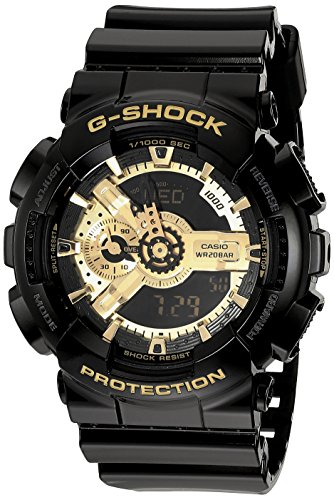 G-Shock  Men's X-Large Combi GA110 Black/Gold One Size (Money Makes The World Go Round Tattoo)