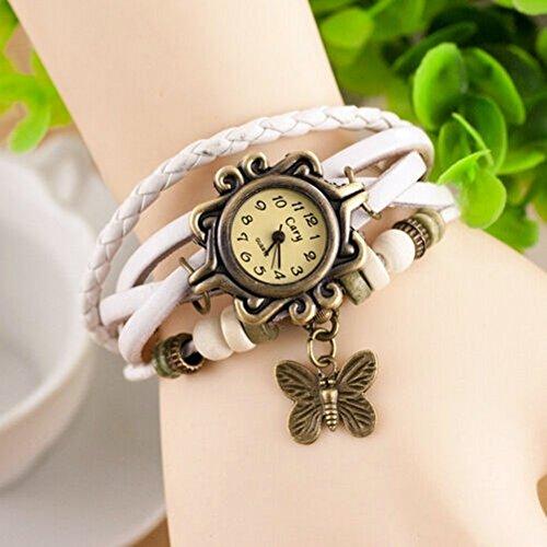 Womens Hipster Leather Bracelet Wrist watch
