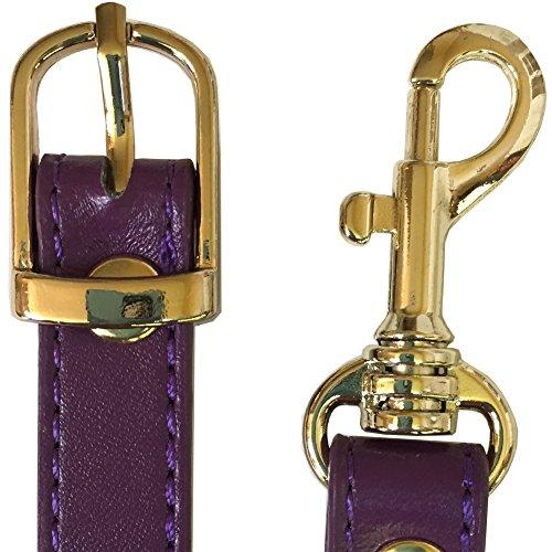 Brass Handbag 8�� Purple Replacement Strap 5 Adjustable Purse Cross Body Tone 5zYPdwwx