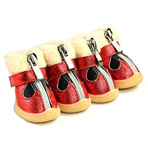 Impermeables De 38r Sets Cálido Invierno Algodón Chihuahua Antideslizante Perros Pequeños Botas Para Feidaeu Mascotas Zapatos 4pcs Productos Calzado 4TqwTa5