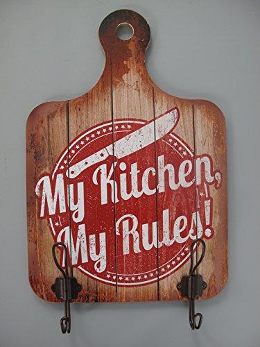 Pared Cartel con ropa cortar madera Mis kücke My Kitchen h ...