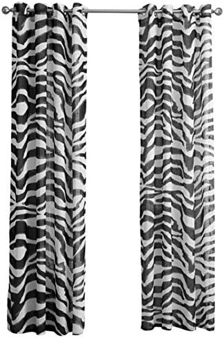 Reinefleur Lot de 2 Rideaux Salon Rideau /à Oeillets Rideaux Occultants Chambre Adulte Motif Zebra