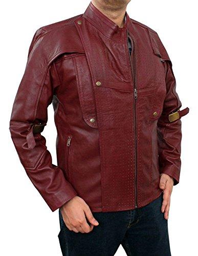 Star Lord Costume for Halloween 2017 - Cosplay Galaxy 1 Leather Jacket PU | Maroon, XL