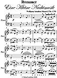 Romance Eine Kleine Nachtmusik Mozart Easy Piano Sheet Music