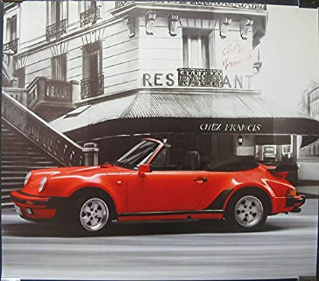 1989 Porsche 911 930 Turbo Showroom Poster