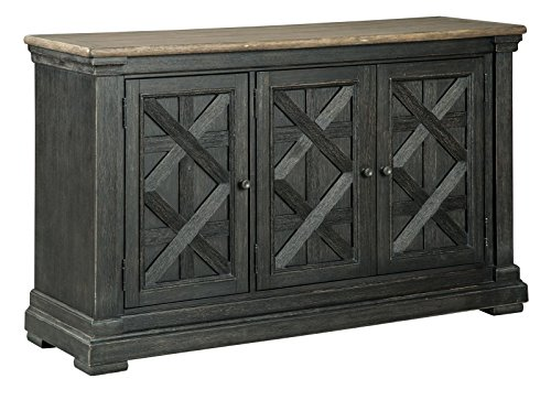Cheap Ashley Furniture Signature Design – Tyler Creek Dining Room Server – Black/Gray