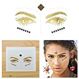 Tattify Bindi Tribal Colorful Temporary Face Rocks - Earth - Other Styles Available - High Quality and Fashionable Temporary Rhinestone Gem Face Jewel Stickers - Pre-Connected Adhesive Strips