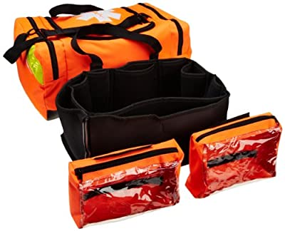 "Primacare KB-4135-O First Responder Bag, 21"" Length x 12"" Width x 9"" Height, Orange by Primacare"
