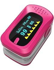 GAYY Medidor de oxígeno Tipo de clip de dedo doméstico Detector de saturación de oxígeno para niños Medidor de frecuencia cardíaca Medidor de pulso, color rosa
