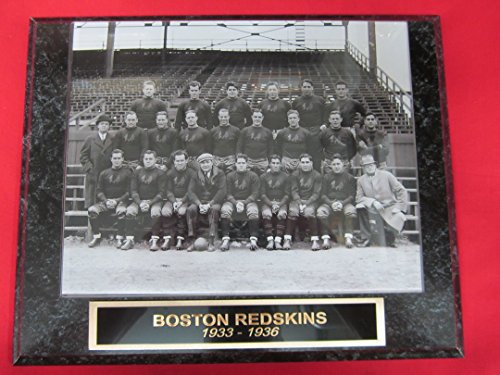 (1933 BOSTON Redskins Engraved Collector Plaque w/8x10 RARE Photo BEFORE WASHINGTON)