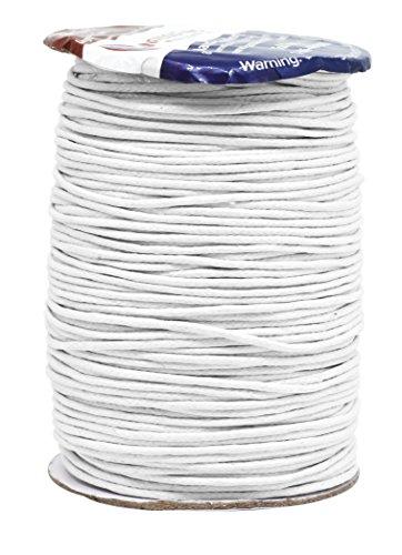 Mandala Crafts 1.5mm 109 Yards Jewelry Making Beading Crafting Macram Waxed Cotton Cord Rope (White)