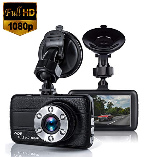Dash cam, Bekhic Dash Camera for Cars with Full HD 1080P, 170 Degree Super Wide Angle Cameras, 3.0″ TFT Display