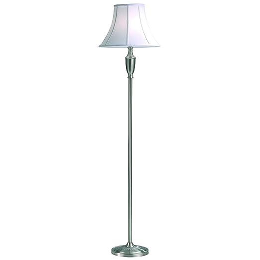 Vienna standard floor lamp colour satin chrome shade colour white vienna standard floor lamp colour satin chrome shade colour white cotton mozeypictures Images