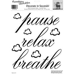 RoomMates RMK0039SS Pause, Relax, Breathe Peel & Stick Single Sheet