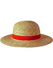 Kidnefn One Piece-Luffy Straw Hat Multifunctionele Cartoon Karakter Zonnebrandcreen Stro Hat Cosplay Volwassen Zonnehoed