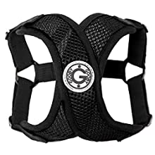 Gooby - Comfort X Step-in Harness, Choke Free Small Dog Harness with Micro Suede Trimming and Patented X Frame, Black, Large