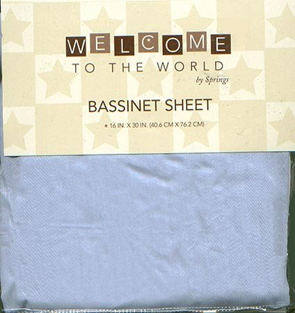 Baby Bassinet Sheet in Blue