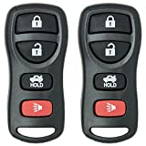 Keyless2Go New Keyless Entry Remote Car Key Fob Replacement for Select Nissan Altima, Maxima, Sentra, Armada and Select Infiniti EX35, FX35, FX45, G35, QX45 Vehicles That Use FCC KBRASTU15 (2 Pack)