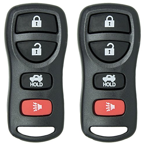 Keyless2Go Keyless Entry Car Key Fob Replacement for Nissan Infiniti KBRASTU15 CWTWB1U733 - 2 PACK (Nissan 2010 Versa Key Remote)