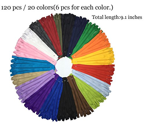 levylisa 9 inch zippers wholesale,zipper assortment,Zippers Bulk for Wallets, Clothing, Repair, Creation, handbag zippers, Purse Zippers,Dress Zippers Wholesale,Multi Colors Zipper (Multi Colors)