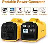 Aeiusny Portable Solar Generator Power Station, 400W 296Wh CPAP Power Supply Backup Battery, 110V Pure Sinewave AC Outlet, 12V DC Output, USB Output for Camping/Travel/Fishing/Hurricane