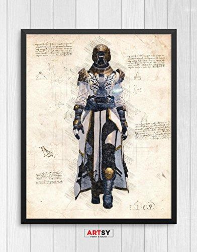 Destiny print, Destiny poster, Warlock poster, Gaming Room Decor, Game Art, N.004 (8 x 10 (Destiny Decor)