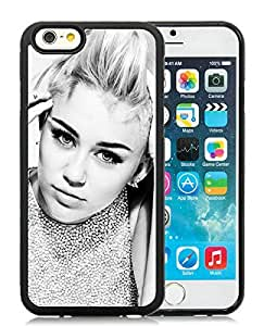 Beautiful Designed Cover Case For iPhone 6 4.7 Inch TPU With Miley Cyrus Black Phone Case