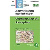 Chiemgauer Alpen Ost, Sonntagshorn: Wegmarkierungen und Skirouten - Topographische Karte 1:25000 (Alpenvereinskarten)