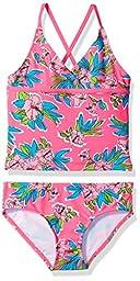 Kanu Surf Little Girls\' Krista Floral Tankini Swimsuit, Pink, 6