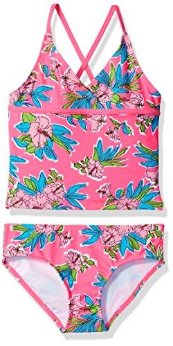 Kanu Surf Big Girls' Candy Beach Sport 2-Piece Tankini Swimsuit, Krista Floral Pink, 8