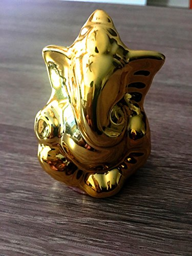 3 Lord Ganesh Ganesha Statue Idol Gold For Car Dashboard