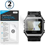 Garmin Epix Screen Protector, BoxWave [ClearTouch Crystal (2-Pack)] HD Film Skin - Shields From Scratches for Garmin Epix