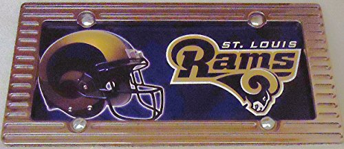 1 , Football Sign of the, SAINT LOUIS RAMS , Metal Sign, Enclosed in a Chrome Aluminum Alloy Frame,19A4.1+17B5.4+3001+