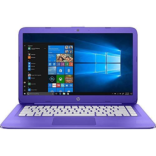 HP Stream Laptop PC 14-ax050nr (Intel Celeron N3060, 4 GB RAM, 64 GB eMMC, Purple), 1-Year Office 365 Personal Subscription Included -
