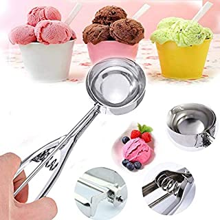 Stainless Steel Cookie Scoops with Trigger Release,Professional Ice Cream Scoops Spherical Mould Ice Tool for Cookie,Cupcake, Muffin, Meatball Kitchen Tools M