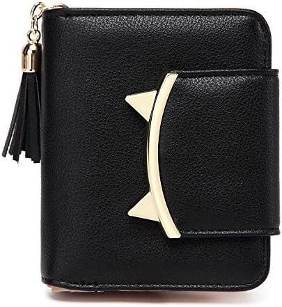 Amazon.com: Monedero de piel con borla para mujer, diseño de ...