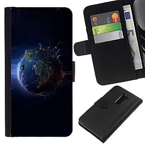 All Phone Most Case / Oferta Especial Cáscara Funda de cuero Monedero Cubierta de proteccion Caso / Wallet Case for LG G2 D800 // Planet Earth From Space