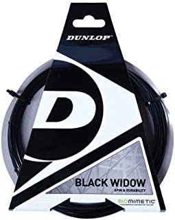 Black Widow Spin And Durability Biomimetic 17G Tennis String by Dunlop