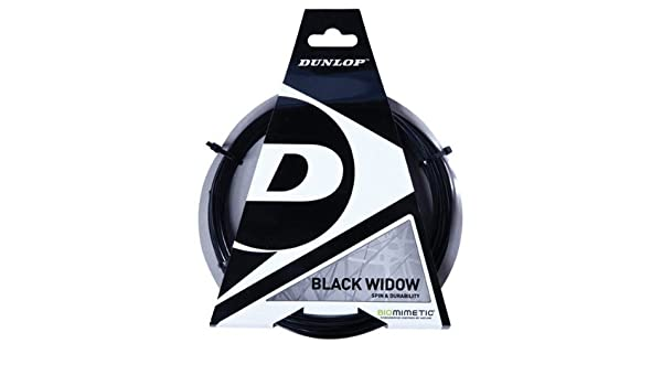 Amazon.com : DUNLOP Black Widow 17 Gauge Poly Ridged Tennis Racquet String in Multi-Packs - Best Spin Durability (2-4-6-8-Packs) : Sports & Outdoors