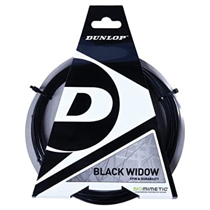 DUNLOP Black Widow 17 Gauge Poly Ridged Tennis String 2-Pack (2 Sets Per