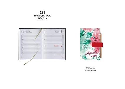 Agenda 2019 diaria 12 X 16,5 notabene rayas Flowers 0621 ...