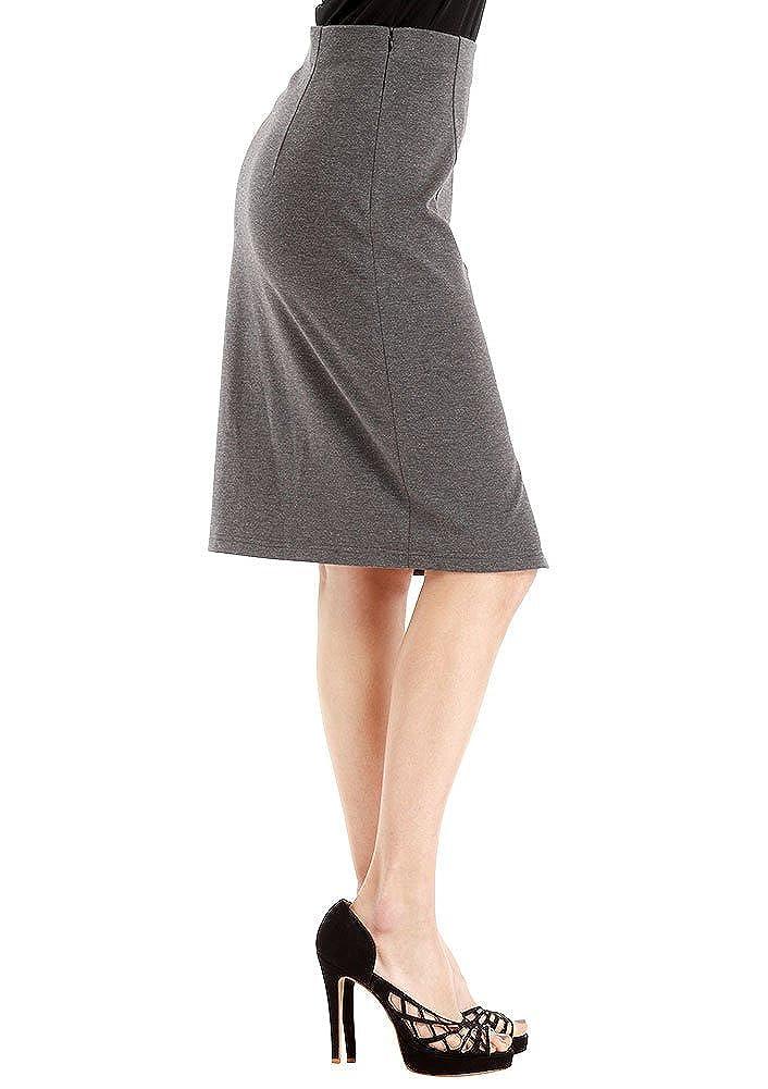 VESSOS Women Skirts Below the Knee Pencil Skirt for Office Wear