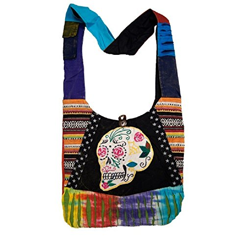 Hobo Bag Skull Handcrafted Sugar Purse Cross Body pw10xwn6Z