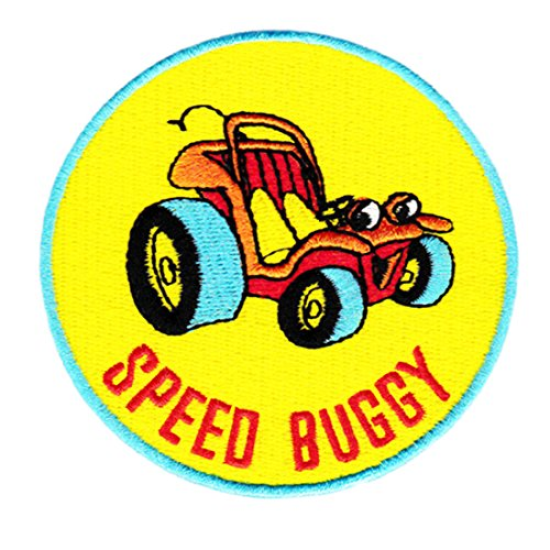 Vintage Style Speed Buggy Shirt Patch 8cm - Badge - Patches - 70's - 80's - Surfing - Surf - Board - Shorts - Applique ()
