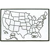 STATES TRAVELED US MAP BIKER IRON ON PATCH