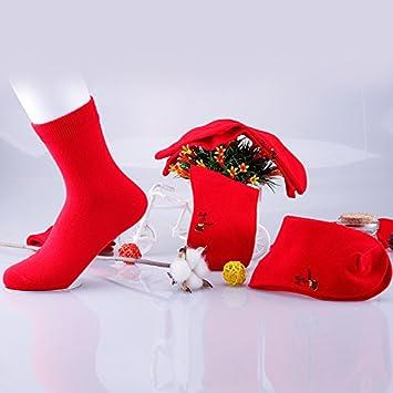 Wanglele Calcetines De Algodón Puro, Calcetines Rojos, De Algodón Puro Happy Socks, Hombres