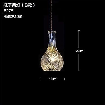 Good quality Lámpara de techo colgante de montaje de la lámpara Vintage industrial vidrio cristal restaurante
