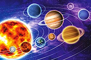 Leo Lux Jigsaw Puzzle - Solar System. 360 pieces Large size. Planets, Space, Stars. Puzzles for Adults and Kids ages 4-8 8-10 10-12 12-14. Floor and Table Educational, Logical, Family game. Best Gift.