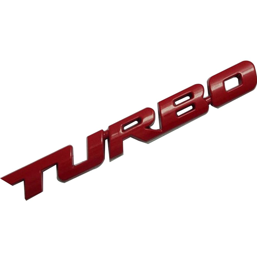 Cool 3D Alloy Metal Letter Turbo Car Motorcycle Emblem Badge Sticker Decal Decor Greenlans IFMSSVHU15387