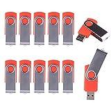LHN® (Bulk 10 Pack) 1GB Swivel USB Flash Drive USB 2.0 Memory Stick (Red)